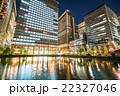 【東京】丸の内オフィス街の夜景 22327046