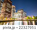 【東京】丸の内オフィス街の夜景 22327051