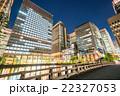 【東京】丸の内オフィス街の夜景 22327053