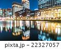 【東京】丸の内オフィス街の夜景 22327057
