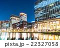 【東京】丸の内オフィス街の夜景 22327058