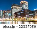 【東京】丸の内オフィス街の夜景 22327059