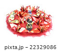 折り鶴と日の丸 22329086