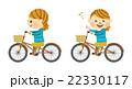 サイクリングする女性 その1 22330117