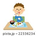 男の子 ご飯 食べるのイラスト 22336234