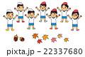 運動会素材 子供達 22337680