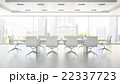 Interior of clean white boardroom 3D rendering 2 22337723