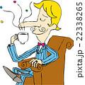 香り コーヒー 男性のイラスト 22338265