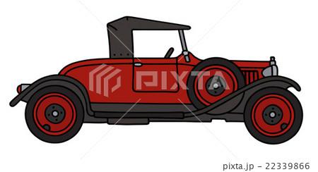 Vintage red roadsterのイラスト素材 [22339866] - PIXTA