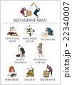 美味しそうに食べる江戸時代の浮世絵を使った居酒屋メニュー 22340007