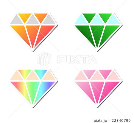 宝石のイラスト素材 22340799 Pixta