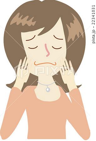 悩む 女性 イラスト 左向きのイラスト素材 22341031 Pixta