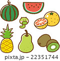 果物 フルーツ 青虫のイラスト 22351744