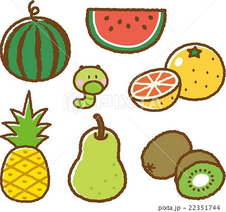果物イラスト素材セット2のイラスト素材 22351744 Pixta