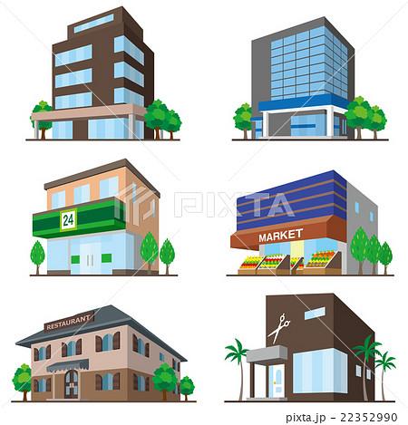 建物 立体図形のイラスト素材 22352990 Pixta