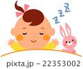 赤ちゃんとぬいぐるみ 寝顔 22353002