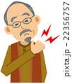 シニア 男性 上半身 肩の痛み 22356757