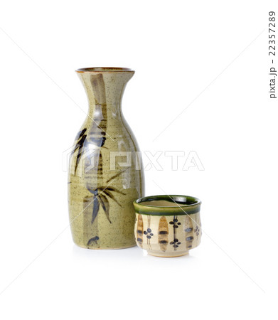 sake set on white backgroundの写真素材 [22357289] - PIXTA