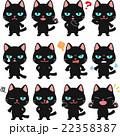 猫 黒猫 キャラクターのイラスト 22358387