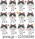 猫 キャラクター 表情のイラスト 22358390
