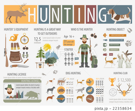 Hunting infographic template. Dog hunting 22358634
