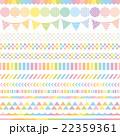 パステルカラー レインボー 広告バナー 22359361