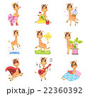 Cute Giraffe Cartoon Collection 22360392