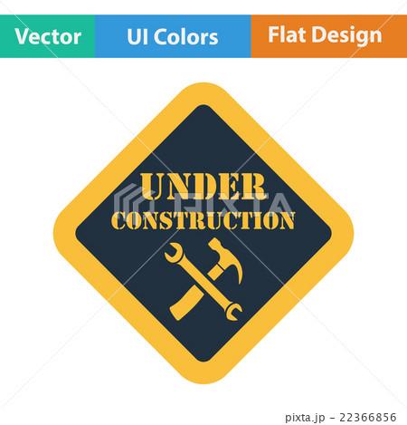 Flat design icon of Under constructionのイラスト素材 [22366856] - PIXTA