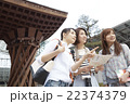 旅を楽しむ女性 22374379