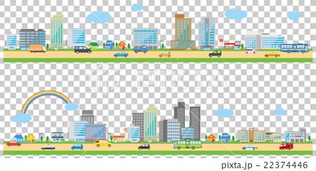 都市风景图象例证。.卧式 22374446