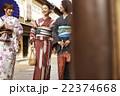 女性 旅行 着物の写真 22374668