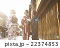 女性 着物 観光の写真 22374853