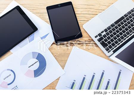 ビジネスイメージ 情報可視化 グラフ化 22375343