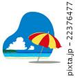 ビーチ ビーチパラソル リゾートのイラスト 22376477
