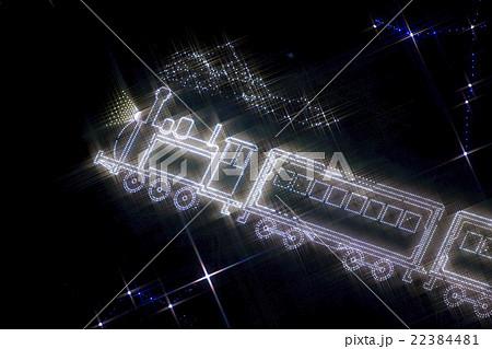 銀河鉄道のイルミネーションの写真素材 22384481 Pixta