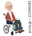 車椅子 座る 老人のイラスト 22396085