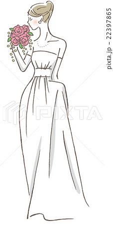 ウェディングドレスのイラスト素材 [22397865] , PIXTA