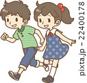 走る少年少女 22400178