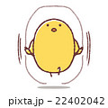 なわとびをするヒヨコ 22402042