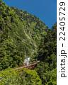 黒部峡谷鉄道 新緑の黒部峡谷 欅平駅からの眺め 22405729