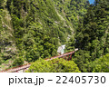 黒部峡谷鉄道 新緑の黒部峡谷 欅平駅からの眺め 22405730