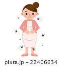 蚊 妊婦 女性のイラスト 22406634