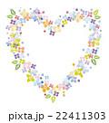 花 ハート 枠のイラスト 22411303