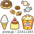 お菓子 スイーツ ベクターのイラスト 22411383