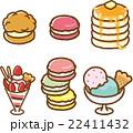 お菓子 スイーツ ベクターのイラスト 22411432