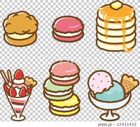 お菓子イラスト素材セット 22411432