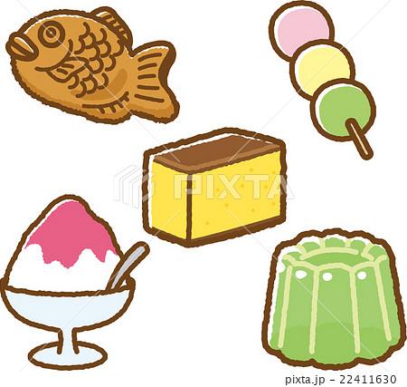 お菓子イラスト素材セット和菓子のイラスト素材 22411630 Pixta
