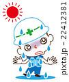 熱中症 熱射病 脱水症状のイラスト 22412381