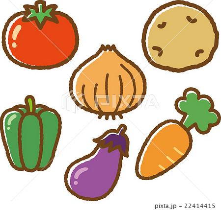 野菜イラスト素材セットのイラスト素材 22414415 Pixta