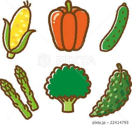 野菜イラスト素材セット1のイラスト素材 22414793 Pixta